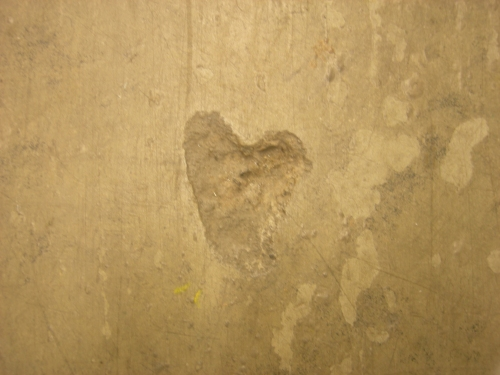 heart in concrete